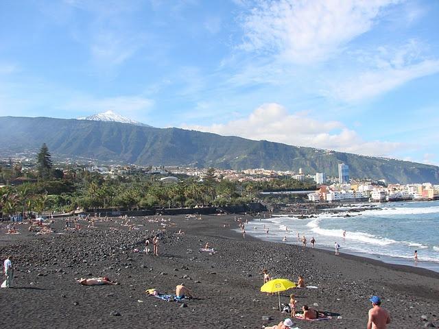 Puerto de la Cruz, Tenerife, Canary Islands - the black sand beaches were such a gorgeous view