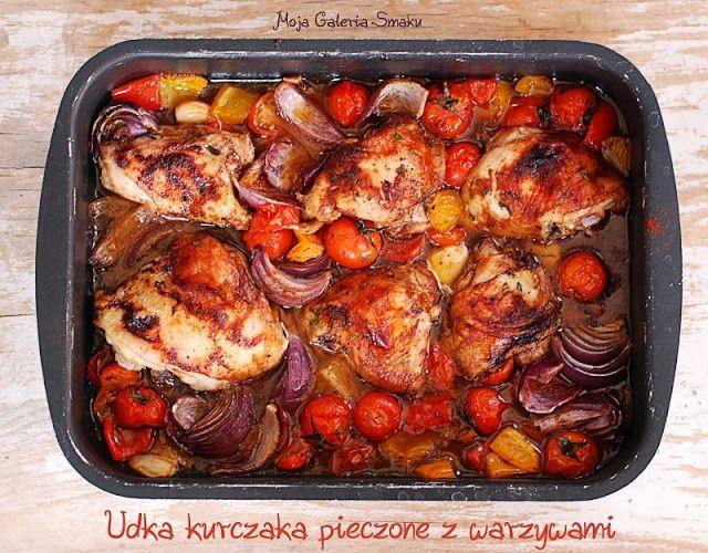 Udka kurczaka pieczone z warzywami