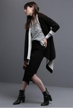 BSL Fashion Siyah Hırka 8657