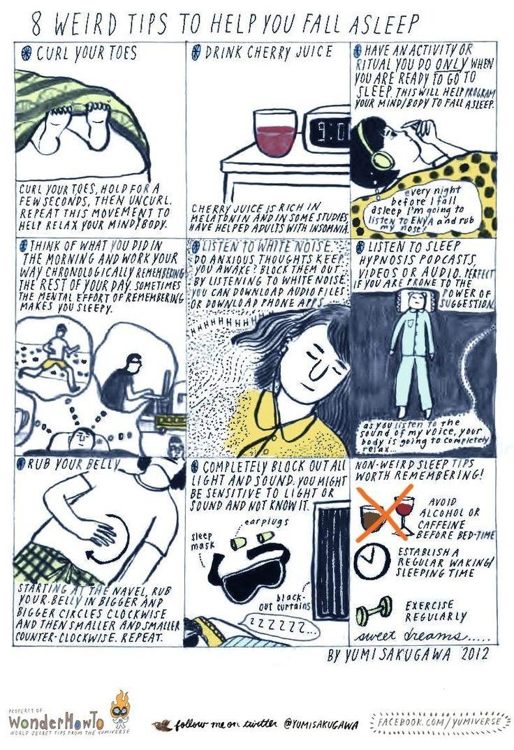 How To: 8 Weird Tips To Help You Fall Asleep