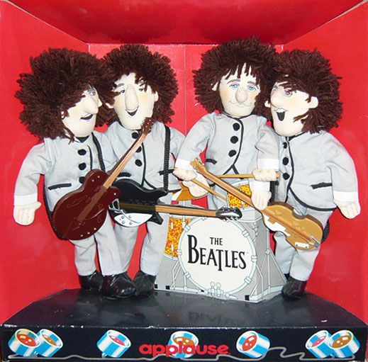 """The Beatles """"Shea Stadium"""" On Stage Applause Dolls Licensed by Apple Corps 1989"""
