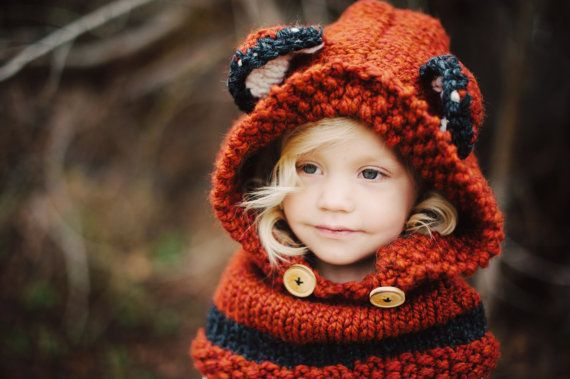 Fox Cowl, Choose your size op Etsy, 25,52€