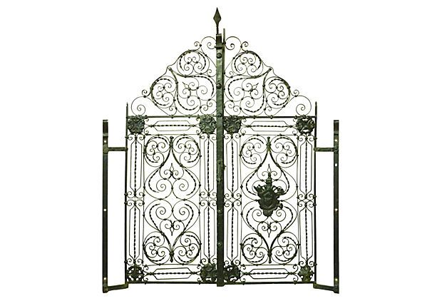 One Kings Lane - Inside or Out - Mediterranean Iron Gates, Pair