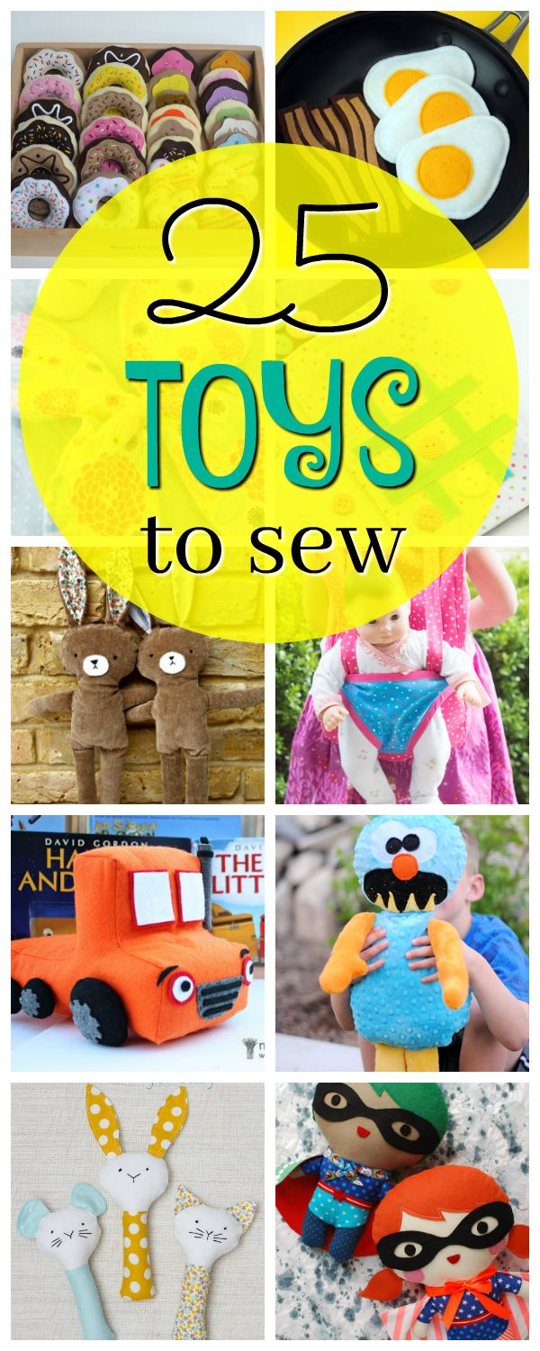 25 Toys To Sew