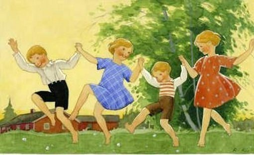 Rudolf Koivu (1890 – 1946, Finnish)  Children Dancing