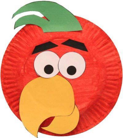 Paper Plate Clown Masks   Esta manualidad adorable de loro usa una plantilla imprimible y un ...