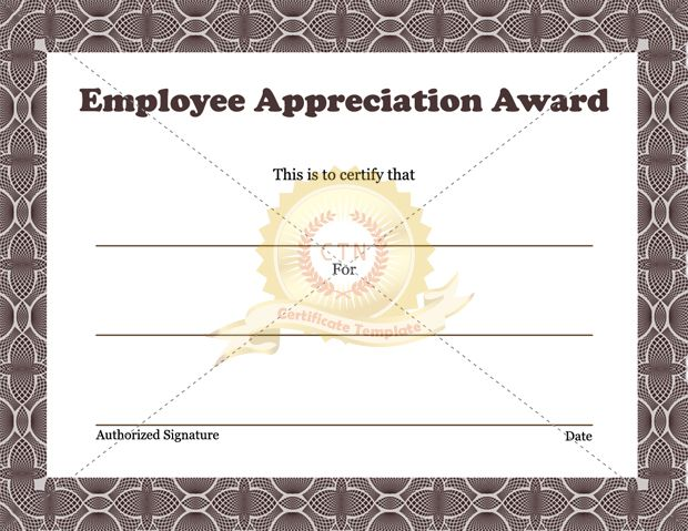 28 best Employee Award images on Pinterest Envelope, Certificate - employee award certificate templates free