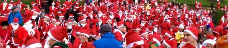 Great Edinburgh Santa Run 2014 in aid of When you wish upon a star