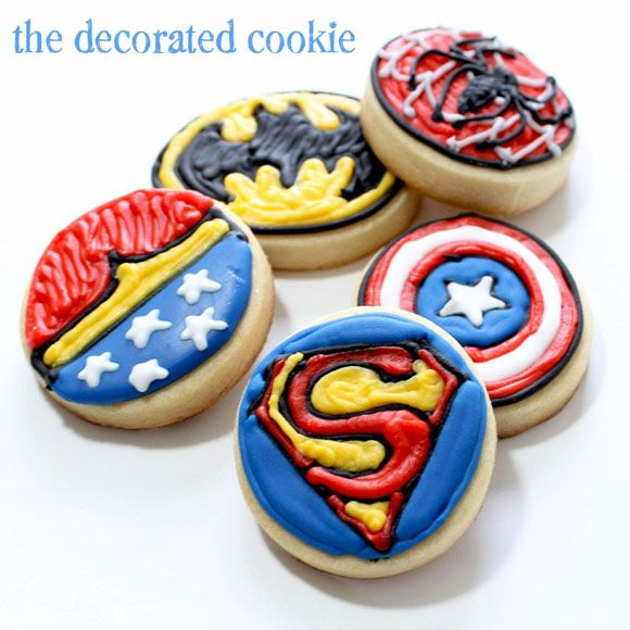 Superhero Cookies! For Brady, who's in a superhero phase at the moment.:)