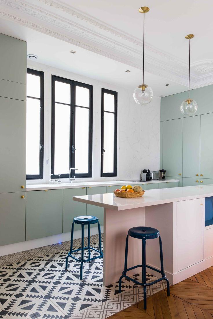 Cuisine Appartement parisien de 180m2-GCG ARCHITECTES