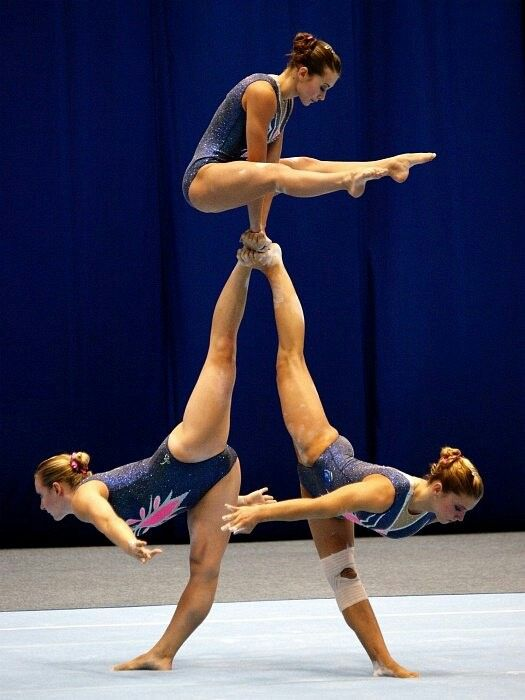 Acrobatic Gymnastics Trio Double Needle Scale
