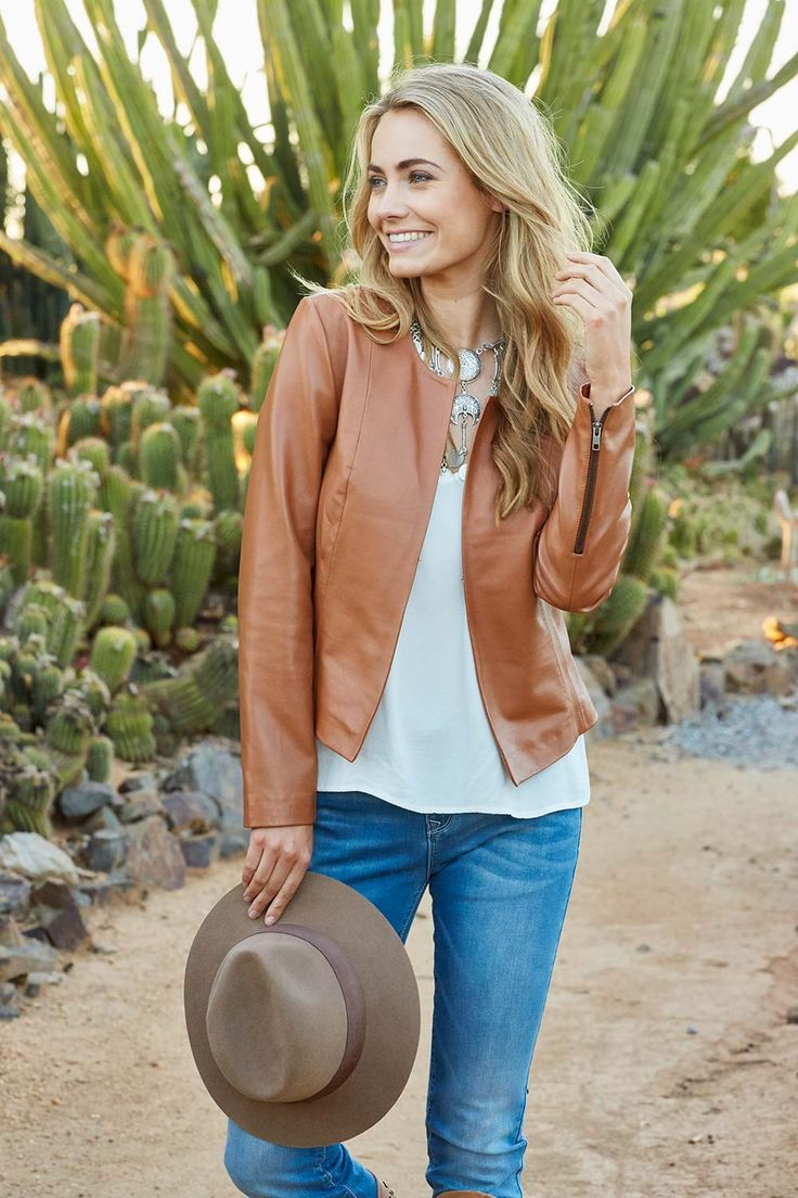 Forever Leather Jacket - Tan