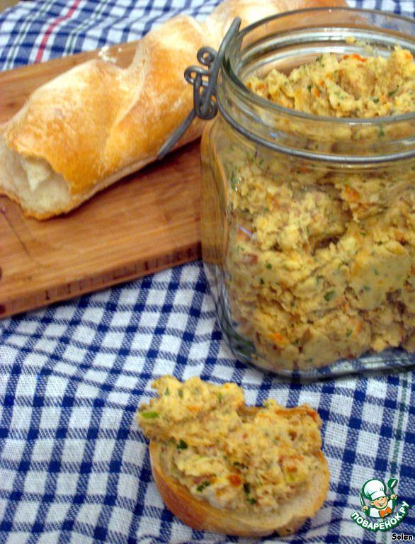 Паштет из белой фасоли с вялеными томатами и травами - кулинарный рецепт