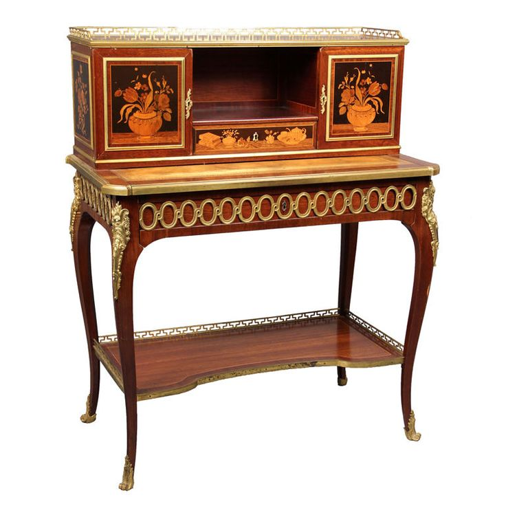 France Late 19th Century A Late 19th Century Louis XV Style Gilt Bronze  Mounted Marquetry Writing - 31 Best Marquetry Furniture Images On Pinterest Antique Furniture