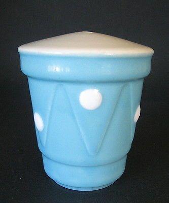 DIANA Australian Pottery POLKA DOT Blue Spot SALT SHAKER 1950's 60's vintage in Pottery, Glass | eBay