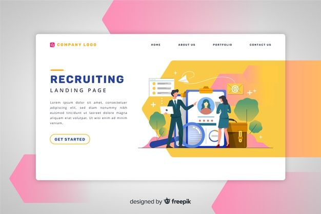 Download Recruiting Landing Page For Free Celevye Stranicy Veb Banner Diagramm