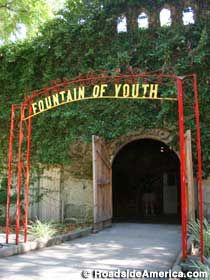 The city of St. Augustine, Florida is home to the Fountain of Youth National Archaeological Park, a tribute to the spot where Ponce de León is traditionally said to have landed.