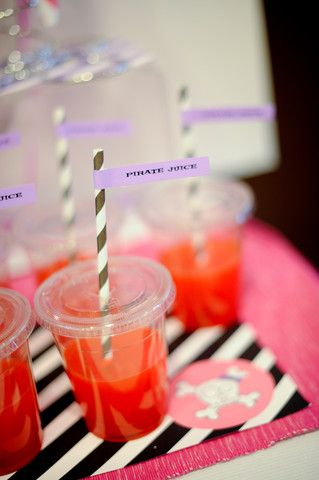 Love the idea to serve drinks at a toddler party in lidded cups - via Kara's Party Ideas