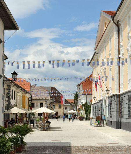 Janine's tip: Maak een begeleide stadswandeling door Radovljica, een oud stadje in de Julische Alpen. Leer alles over de historie, bezoek leuke locaties en ontdek de mooiste plekjes. De stadswandeling is gratis op dinsdagochtend. #mijntip #mijnslovenie