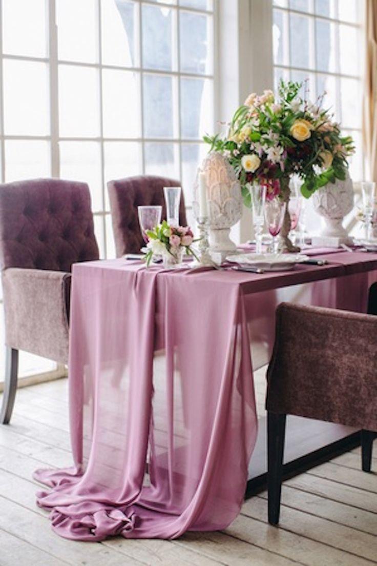 Декор праздничного стола #стол #декор #украшение #сервировка #цветы
