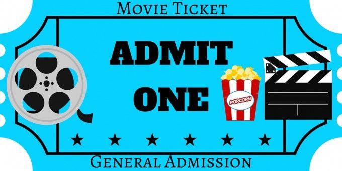 Blank Printable Admit One Invitations Movie Night Party Movie