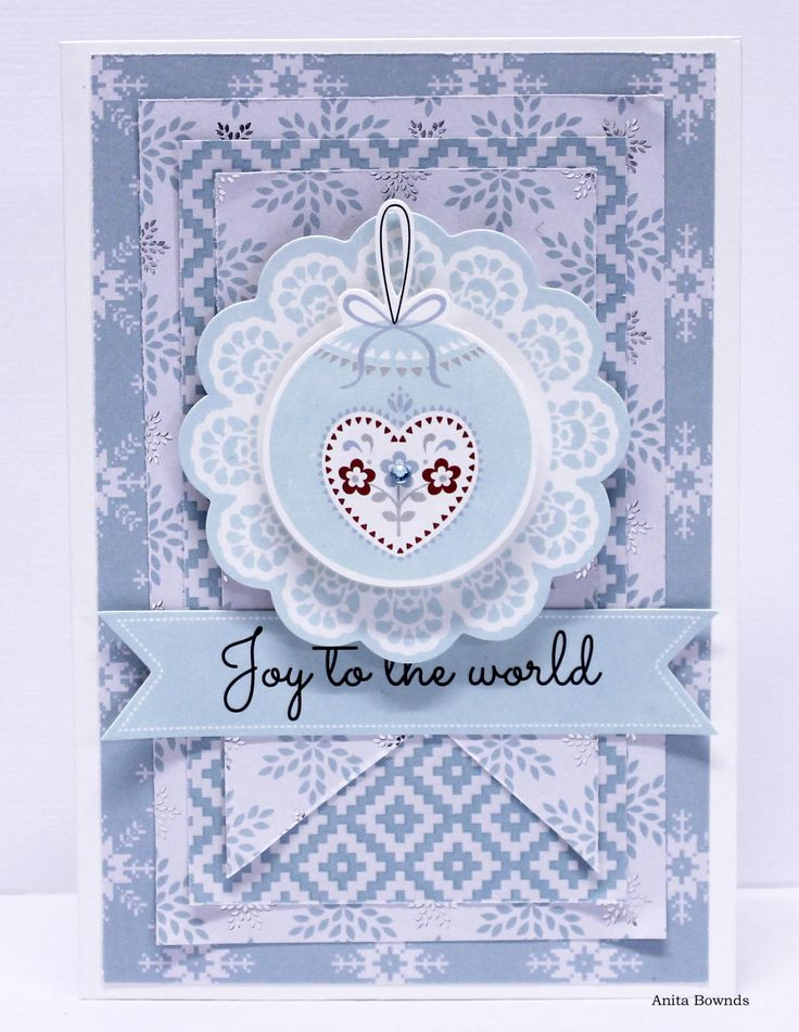 DT card for #kaisercraft using North Pole - Anita Bownds
