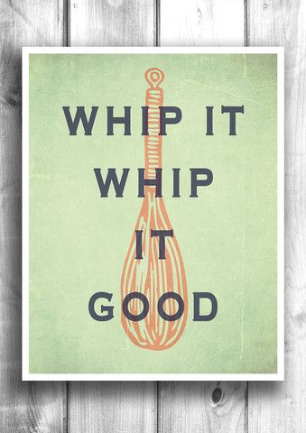 Whip it - Whip it good - Fine art letterpress poster - Typography – Happy Letter Shop