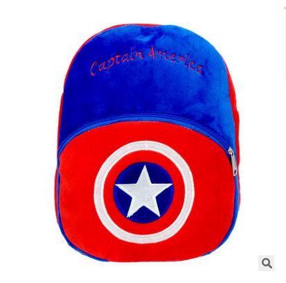 2017 Cartoon Kids Plush Backpacks Spiderman Mini schoolbag Hello Kitty Plush Backpack Children School Bags Girls Boys Backpack