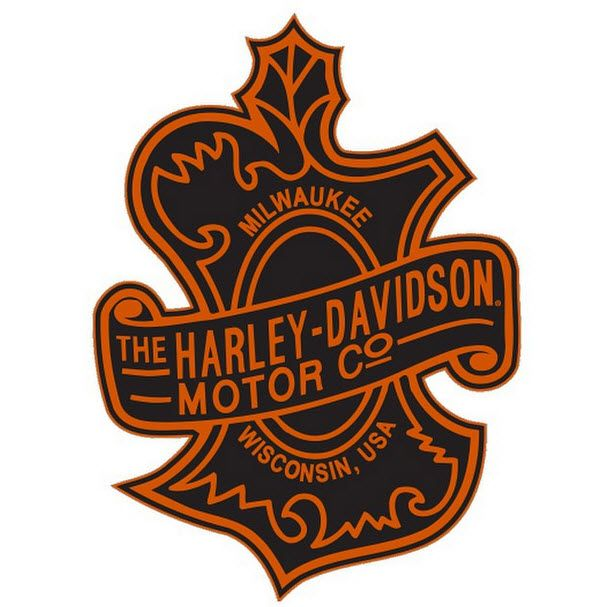 Before the famous Bar and Shield logo was introduced in 1910, this Vintage-First Harley Logo that was used on the early models  #harleyoakleaf
