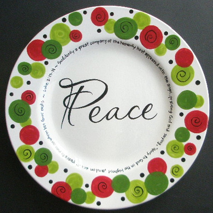 Custom Personalized PEACE Christmas Plate | Plates ...