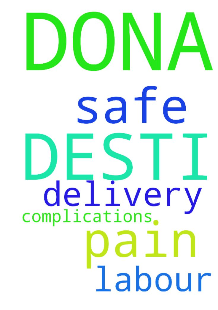 Please pray for DESTI DONA who is with - Please pray for DESTI DONA who is with Labour pain . For Safe delivery. Having some complications.  Posted at: https://prayerrequest.com/t/Tf4 #pray #prayer #request #prayerrequest