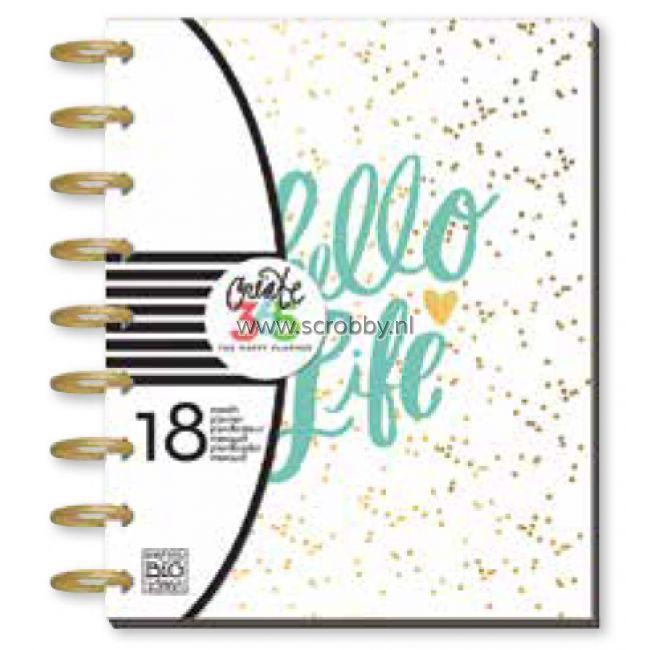 Me & My Big Ideas Create 365 Happy Planner Hello Life (aangepaste garantie)