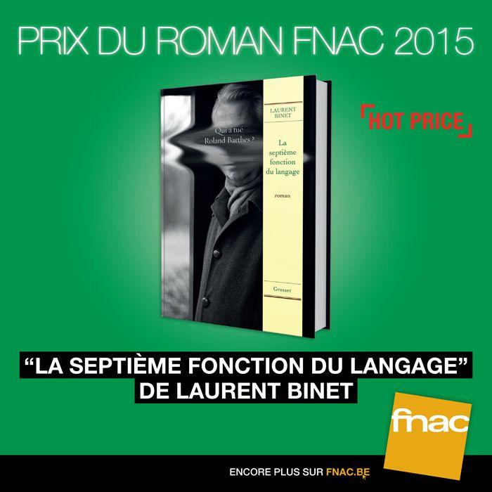 [PRIX DU ROMAN FNAC 2015] La septième fonction du langage - Laurent Binet