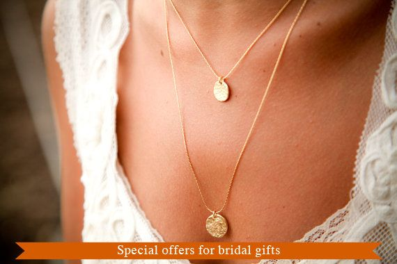 collar de la boda de oro, dos niveles, 18 quilates chapado en oro, joyería nupcial, regalo de compromiso, collar para la novia, elegante