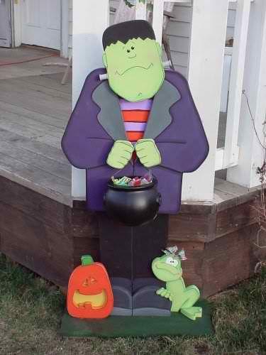 Cute Halloween Wood Craft Frankenstein