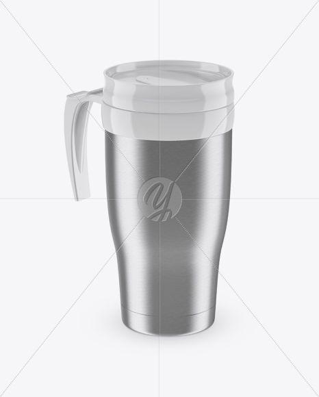 Steel Thermo Cup Mockup (High-Angle Shot)