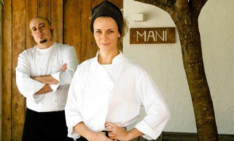 Helena Rizzo and Daniel Redondo at Maní Restaurant, São Paolo