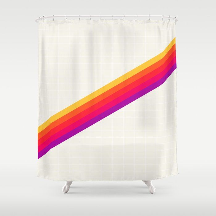 Buy 80s Vhs Rainbow Shower Curtain By Bitart On Society6 Modern