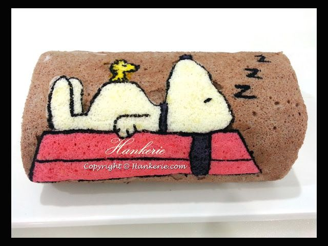 Snoopy Chocolate Swiss Roll