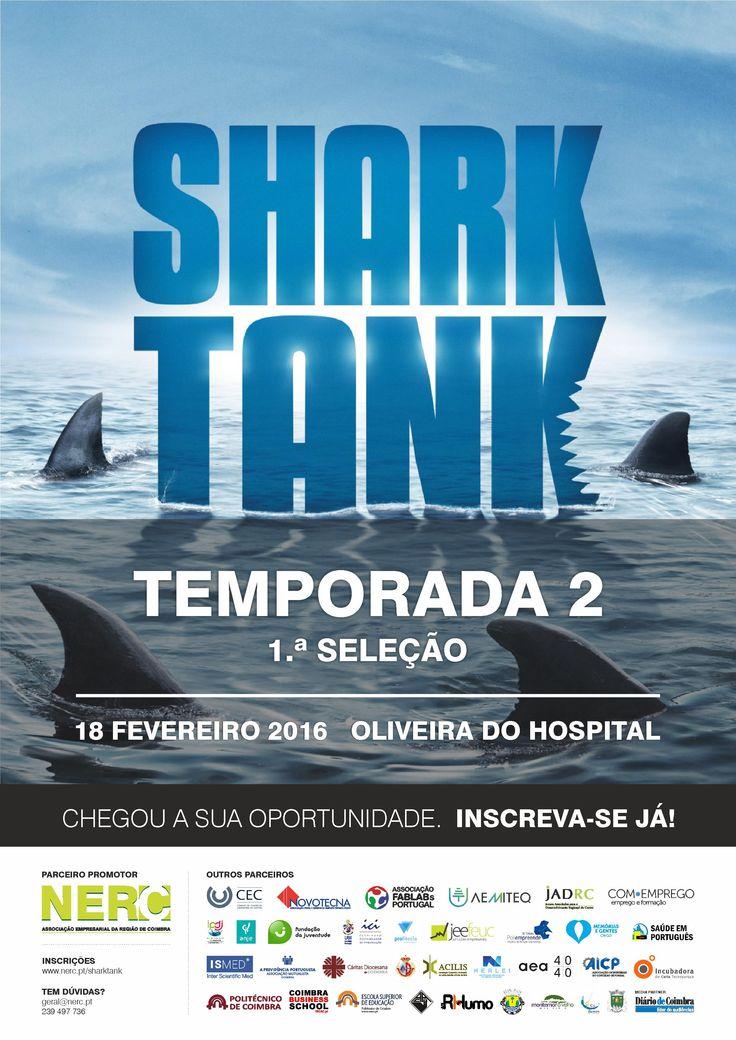 A Associação Empresarial de Águeda é parceira da  2.ª Temporada do programa televisivo SHARK TANK  2ª audição: 18 | fevereiro | 2016  Mais informações e inscrição em :  www.aea.com.pt   ou em  http://www.aea.com.pt/admin/files/noticias/Cartaz_Promocional_Shark_Tank_2_-_2.ª_Audição+_ficha_de_inscrição_.pdf