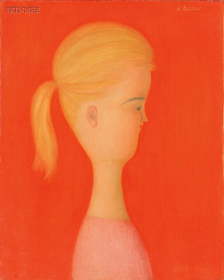 """American & European Paintings & Prints - Sale 2598B - Lot 480    Antonio Bueno (Italian, 1918-1984)     Portrait of a Blonde Woman in Profile   Signed """"A. Bueno"""" u.r., inscribed """"John Rae"""" in pen on the reverse.   Oil on canvas, 19 3/4 x 16 in. (50.2 x 40.6 cm), framed.   Condition: Minor retouch, craquelure.     N.B. We wish to thank Isabella Bueno, daughter of the artist, for kindly confirming the authenticity of the lot    $5,629.00"""