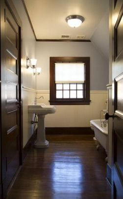 bathroom dark wood floor white trim 67 ideas | dark wood