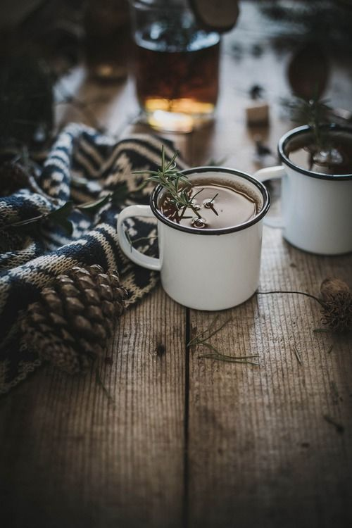 Hot Buttered Rosemary + Fig Bourbon Cider Recipe ↣✿