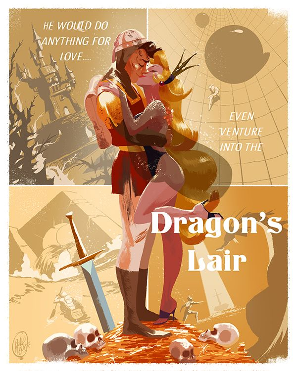 I was part of a Don Bluth Tribute show at A Little Known Shop in Anaheim, California! I did a piece inspired by the amazing arcade game, Dragon's Lair!