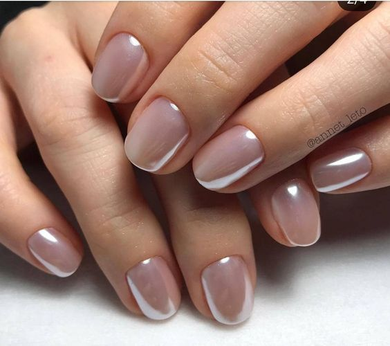Beautiful pearlescent nails.  Strong contender for your wedding day? #weddingnails #nailart #nails #pearlescent #wedding #bridalnails #bride