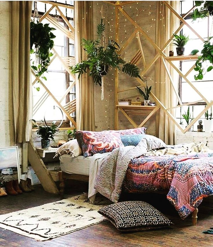 terrific bohemian bedroom inspiration | See this Instagram photo by @hippie.sunflower • 3,025 ...