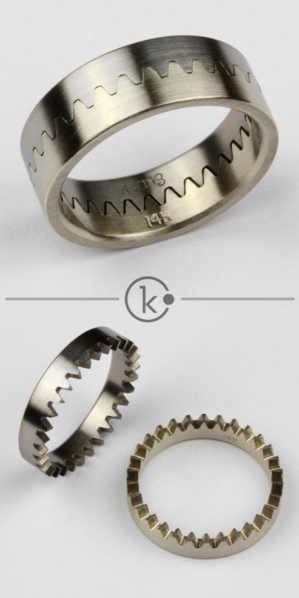 Crown Wheel Ring by Kirk Lang, original designer - www.kirklang.com