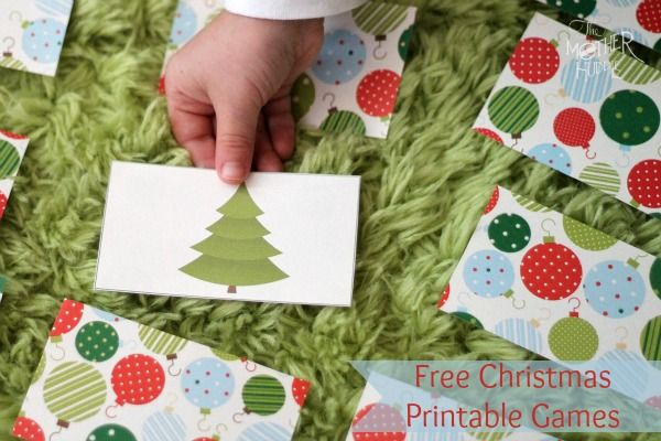 Free Christmas printable card game that can be used many different ways - would make a fun little stocking stuffer wrapped in ribbon