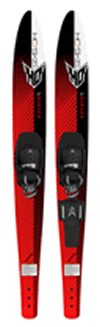 HO Blast 63 Combo Water Skis w/HS-RTS The Blast Combos are a great value providing a combo ski set that can also be used as a slalom ski. The Deep V bottom design provides a smooth ride over the wakes and solid tracking while carving up the lake. The Blast comes equipped with the Contour boot, including a soft EVA foam foot bed or the new Adjustable Horseshoe boot. Have a Blast this summer on your set.