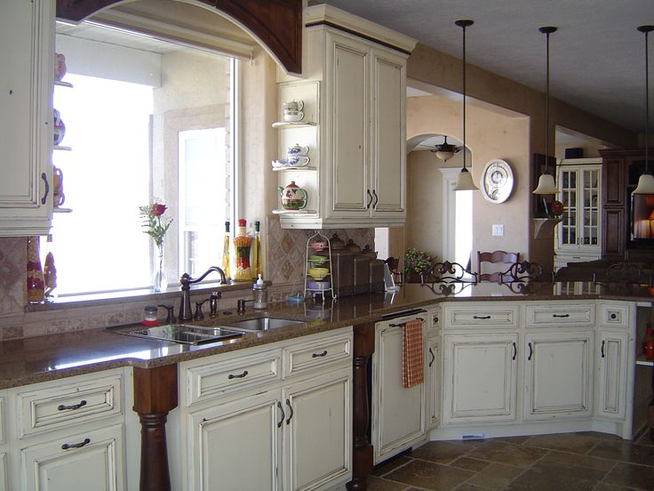 paint kitchen cabinets french country style whitewash